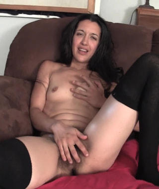Eva Love Masturbates On Couch
