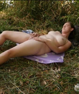 Michelle Rivers Plays In The Grass